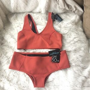 CYNTHIA ROWLEY NWT bikini scuba orange M